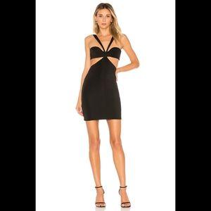h:ours Sammie Black Mini Bodycon Dress Large